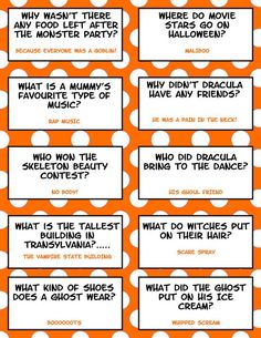 Enjoy your Halloween with these fun filled, humorous Halloween Lunch Box Jokes. here are 21 Hilarious Halloween Lunch Box Jokes For Kids! Halloween Tags, Funny Halloween Jokes, Funny Jokes For Kids, Halloween Party Games, Holidays Halloween, Kid Jokes, Halloween Riddles, Happy Halloween, Halloween Facts For Kids