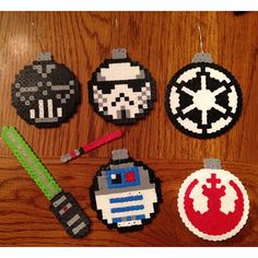 Star Wars Christmas ornaments perler beads by carpamil