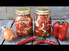 YouTube Canning Pickles, Preserves, Ketchup, Delish, Mason Jars, Food And Drink, Stuffed Peppers, Vegetables, Cooking