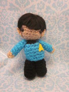 Star Trek Mister Spock Amigurumi Crocheted Doll by SpudsStitches, $25.00