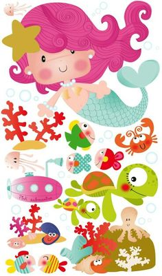 Under The Sea theme Diy And Crafts, Crafts For Kids, Arts And Crafts, Paper Crafts, Little Mermaid Parties, The Little Mermaid, Top Image, Cute Clipart, Mermaid Birthday