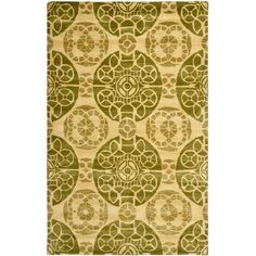 Wyndham Honey/Green 5 ft. x 8 ft. Area Rug