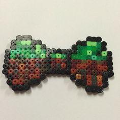 Minecraft bow hama beads by yanniefacee
