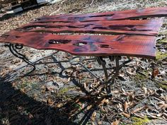 Stunning Handcrafted Aged Red Cedar Log Coffee Table