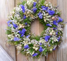 Dried Flower Wreath by NaturDesign on Etsy https://www.etsy.com/listing/97867452/dried-flower-wreath