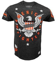 9a087dffd1 American Fighter by Affliction MMA Vanderbilt Triblend Black Mens Tee Shirt  M