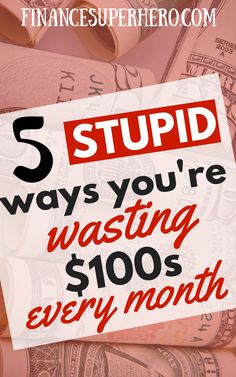 5 Tips to Easily Stop Wasting Money Looking to stop wasting money on things you don't really need? These 5 tips will help you spend wisely and quit spending money on stupid thi Save Money On Groceries, Ways To Save Money, Money Tips, Money Saving Tips, Groceries Budget, Money Hacks, Frugal Living Tips, Frugal Tips, Thing 1