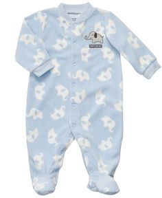 Carter's Baby Coverall, Baby Boys Elephant Print Footed Coverall - Kids Baby Boy (0-24 months) - Macy's