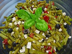 Bean salad greek from rotessternchen Healthy Recipes For Diabetics, Healthy Gluten Free Recipes, Healthy Pasta Recipes, Healthy Cooking, Healthy Food, Shellfish Recipes, Shrimp Recipes, Salmon Recipes, Benefits Of Potatoes