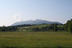 Blick über den Soier See an einem Sommermorgen - Bad Bayersoien, Ammergauer Alpen, Bayern ** View to lake Soien and the Ammergau Alps, Bad Bayersoien, Bavaria