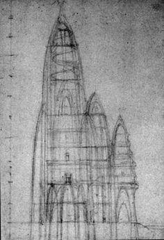 Boceto de Gaudí para el Hotel Atracción