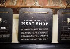meat shop store signage
