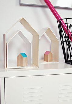 DIY-Setzkasten,Regal Holzhäuschen, 3 er-Set, Natur von Ahoj-2012 auf DaWanda.com