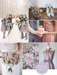 Purple Hues for Winter Wedding Color Ideas and Bridesmaid Dresses 2014 #tulleandchantilly #purpleweddingideas #weddingcolors