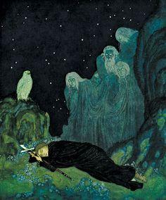 The Dreamer of Dreams, Edmund Dulac, 1915.