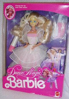 Dance Magic Barbie. 90s. Whenever my Barbies got married, this was the wedding dress.  Haha...