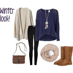 Winter look #3 by rinanuramalina on Polyvore