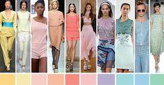 Colores Primavera Verano 2014 La carta de colores integrada por diez tonalidades fue elaborada a partir de un estudio de las colecciones  exhibidas en Nueva York, Londres, Milán…http://www.nanilabradoor.es/?p=6464