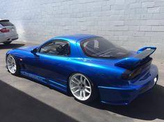 #Mazda_RX7 FD #Modified & #Slammed on #Work_Wheels Work Emotion CR Kiwami  F&R: 18x10.5 +15 all around.
