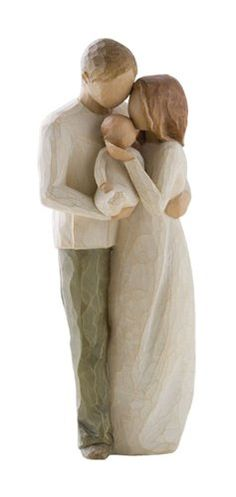 Willow Tree Our Gift - What a sweet figurine.  Love how the new family is all cuddled together wrapped in love.