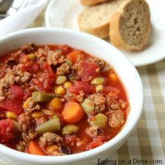 You are going to love this easyCrock pot Veggie Soup. It is super easy, freezes great and tastes amazing. Try thisCrock pot Veggie Soup.