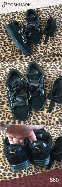 Puma Heart Suede shoes In good condition, comes with extra Laces Puma Shoes Sneakers