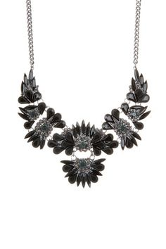 Multi Stone Flower Frontal Necklace