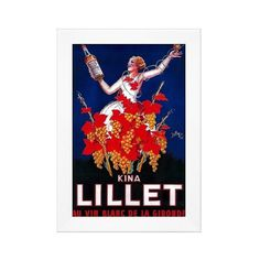 Art.com Framed Wall Poster Print Kina Lillet Vintage Poster ($140) ❤ liked on Polyvore featuring home, home decor, wall art, red blue, red home decor, red home accessories, red wall art, blue wall art and framed wall art