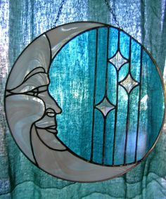 Piece of Stained Glass - Moon