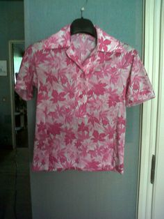Pink leaves shirt with its skirt