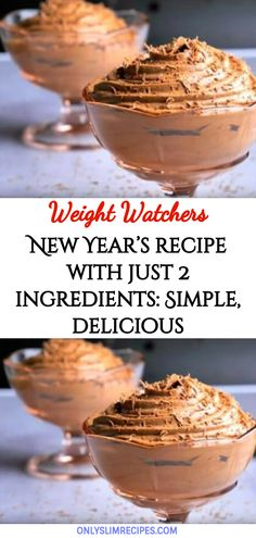 New Year's recipe with just 2 ingredients: Simple, delicious – and ready in no time Ww Desserts, Healthy Desserts, Ww Recipes, Cooking Recipes, Weight Watchers Snacks, New Year's Food, Thing 1, 2 Ingredients, Healthy Treats