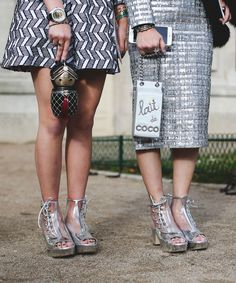 Chanel Outfits Street Style | Attendees brought their street style A game to the #FrontRowOnly Chanel show. #refinery29 http://www.refinery29.com/2016/03/105548/chanel-street-style-paris-fall-winter-2016