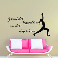 Wall Decals Yoga Quote Welcome To Yoga Class Gymnast Lotus Vinyl - Yoga studio wall decals