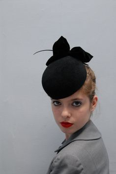 The Black Apple Timeless Pillbox Hat by AndTheyLovedHats on Etsy
