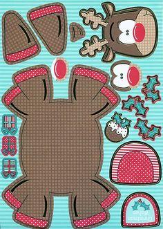 Rendier knutselen met kleuters / Rudolph