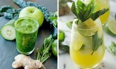 Jak zhubnout břicho? Pijte před spaním tyto skvělé nápoje Cucumber Drink, Cucumber Water, Cocktails, Cocktail Drinks, Martinis, Refreshing Drinks, Summer Drinks, Summertime Drinks, Cold Drinks