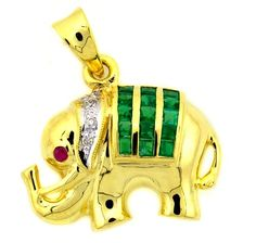 Elephant Diamond Gemstone Emerald Pendant 18K Yellow Gold… Sapphire Pendant, Blue Sapphire Rings, Ruby Rings, Antique Jewelry, Vintage Jewelry, Going For Gold, Emerald Earrings, Diamond Gemstone, Jewelry Stores
