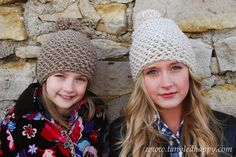 Be cozy through the cold in a stretchy and adorable crochet pom pom beanie. This seamless crochet...