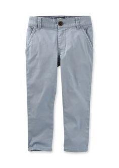 OshKosh Bgosh Blue 5-Pocket Stretch Twills Toddler Boys