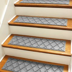 Found it at Wayfair - Aqua Shield Medium Gray Argyle Stair Tread