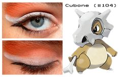 Cubone inspired make up Pokemon Makeup, Pokemon Halloween, Makeup Eye Looks, Eye Make Up, Eyeshadow, Cosplay, Polyvore, Makeup Ideas, Inspired