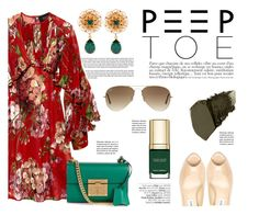 """Pedi Time: Peep-Toe Pumps"" by katsin90 ❤ liked on Polyvore featuring Anja, Gucci, Dolce&Gabbana, Avenue, Ray-Ban, Gorgeous Cosmetics and peeptoe"