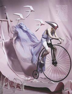 "Vogue UK June 2012 Issue  Editorial: ""Paper Plates""  Photographer: Tim Gutt"