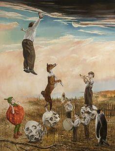 Jarmo Mäkilä (b. Sirkuksen poika / A Son of the Circus, oil on canvas, 203 x 150 cm Pop Art, Arts Award, Media Images, Skull And Bones, Postmodernism, Surreal Art, Art Fair, Popular Culture, Goldfish