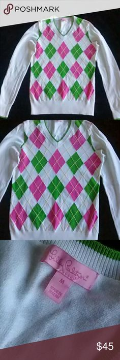 Lilly Pulitzer Sweater Lilly Pulitzer sweater in very good condition. Size medium. 100% cotton.  Any questions please feel free to ask. Thanks for viewing our Closet. Don't forget to bundle and save. Happy Poshing! Lilly Pulitzer Sweaters
