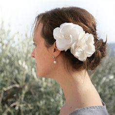#Haarbloemen Zaria van Wit en Zilver