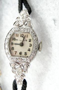14k Gold Late Victorian 15 Jewel Ladies Elgin Wrist Watch ...