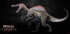 Spinosaurus primal carnage from super heroes dinosaurs series new home lighthouse island be good guy Spinosaurus, Dinosaur Simulator, Primal Carnage, Dinosaurs Series, Jurassic World 2015, Godzilla Toys, Extinct Animals, Dinosaur Art, Prehistoric Creatures