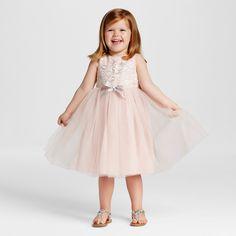 Toddler Girls' Sparkle Mesh Flower Girl Dress Pink/Silver