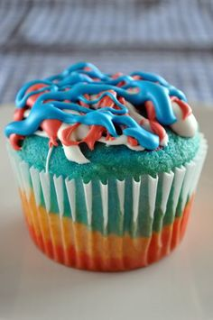 Firecracker CupcakesNeed a simple, yet fabulous dessert for your Fourth of July celebration? Then look no further. This recipe is super-easy and fun, resulting in a finished cake that's incredibly patriotic!